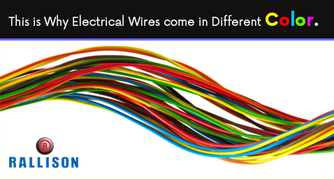 This is why electrical wires come in different color.